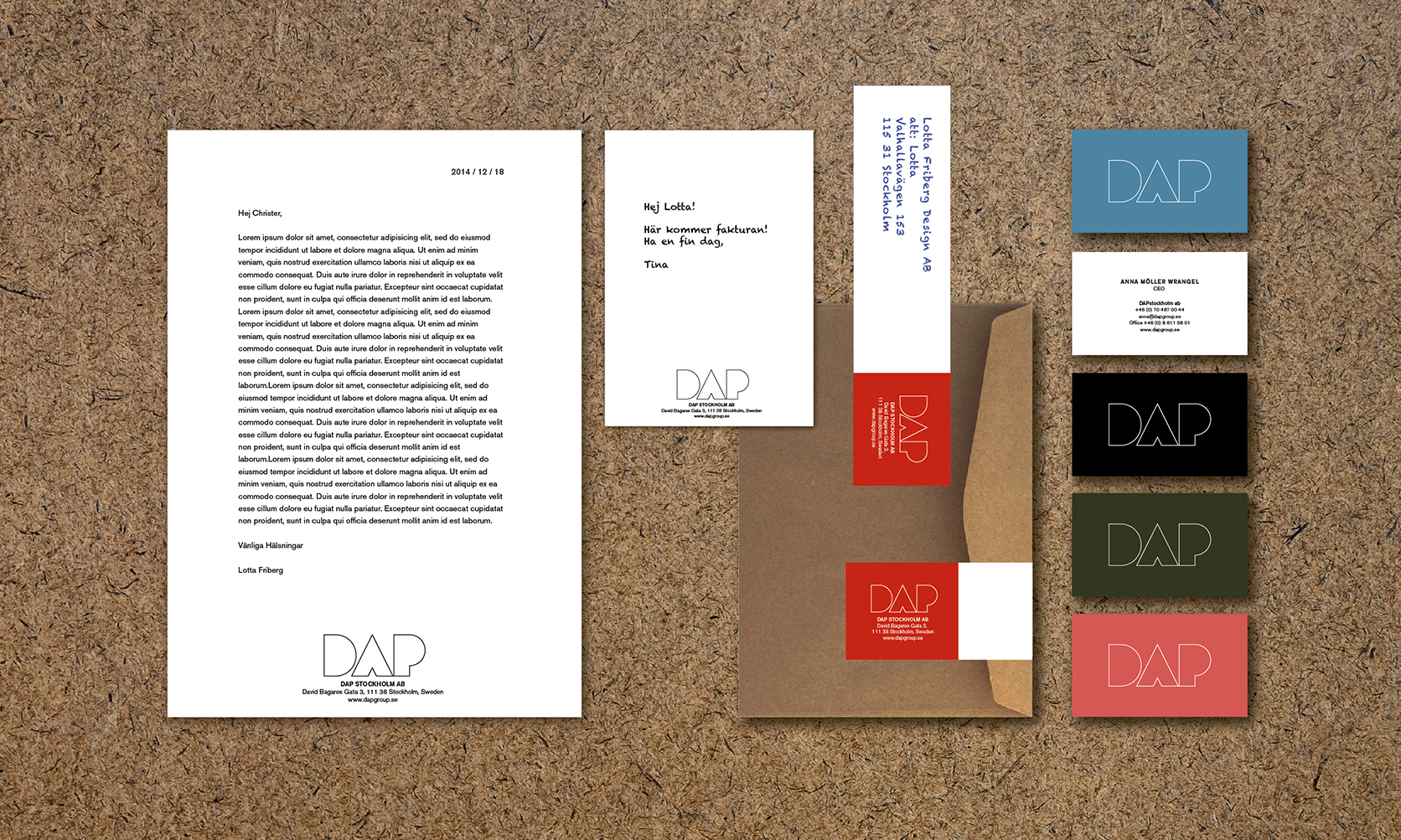 DAP stationery